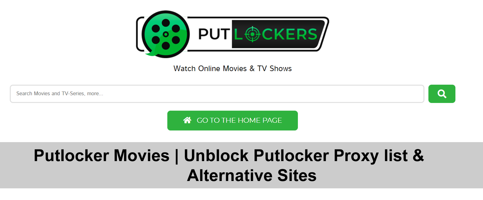 Putlocker Movies | Unblock Putlocker Proxy list & Alternative Sites