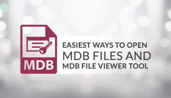 OPEN MDB FILES AND MDB FILE VIEWER TOOL