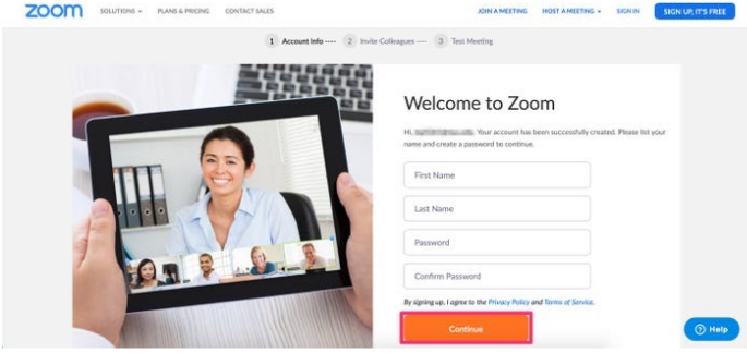 Zoom meeting app on your PC every