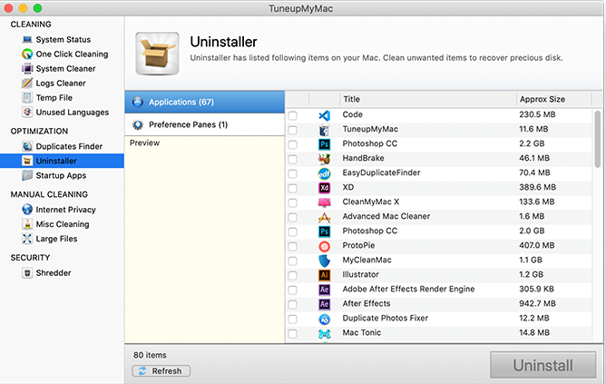 Innumerable Installed Applications