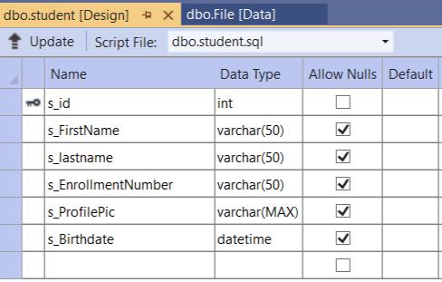 Set up the database
