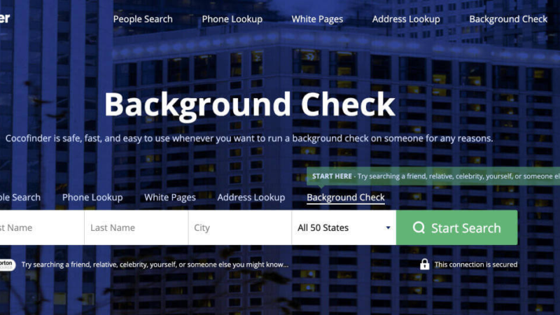 Background Check Feature