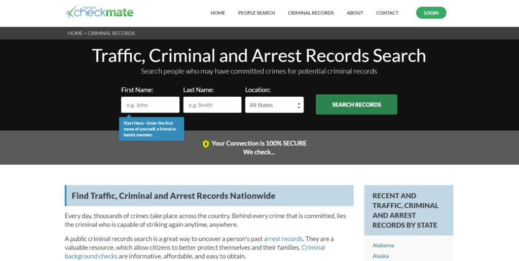 Criminal Record Search