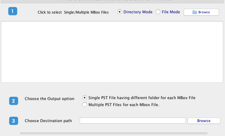 MBOX files quickly into PST format