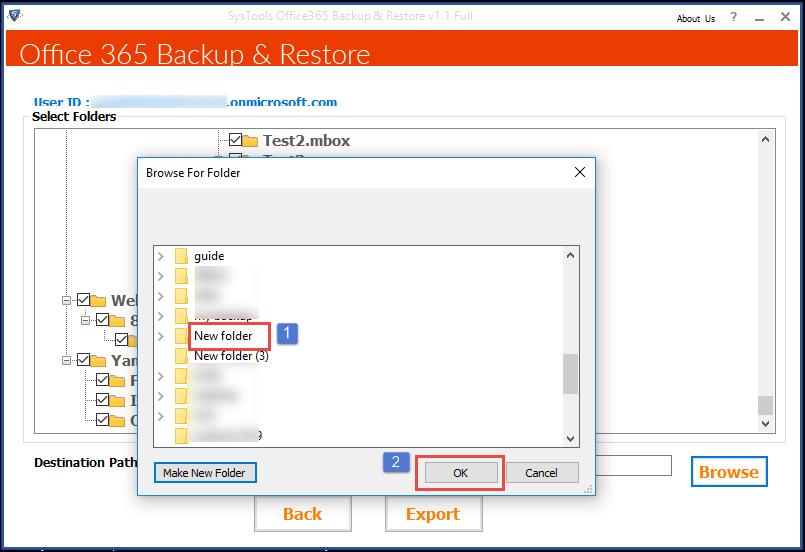 Microsoft 365 restore