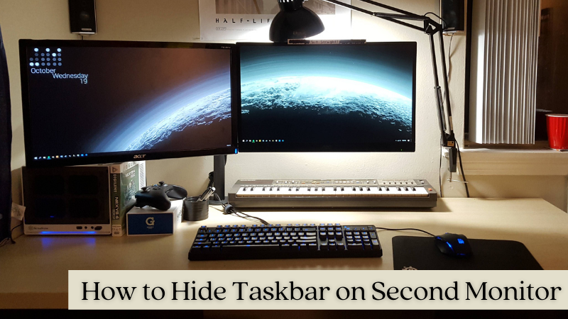 How to hide taskbar on second monitor – Simple guide