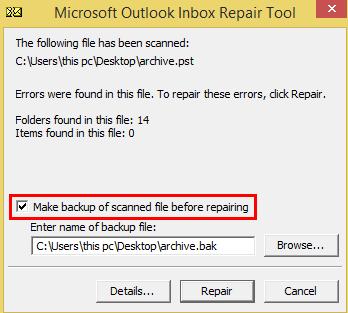 Make Backup option to keep