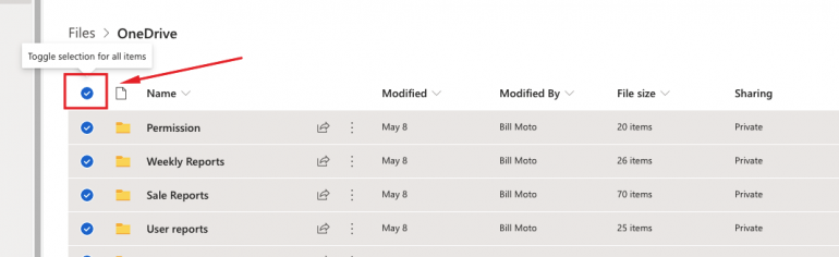 OneDrive folder