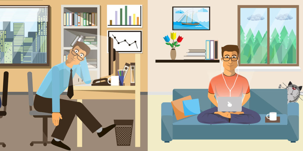 Work at Home is Different Than Work at Office