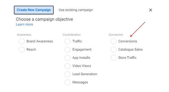 conversion objective