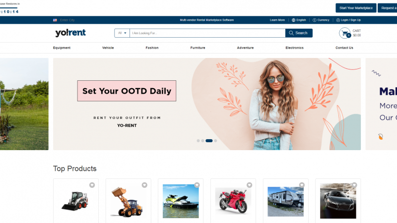 New Features of Yo!Rent Multi-Vendor Rental Software